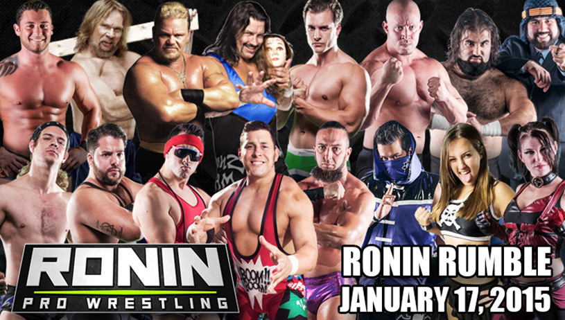 OFFICIAL RANKINGS FOR RONIN PRO WRESTLING (12/24/14)